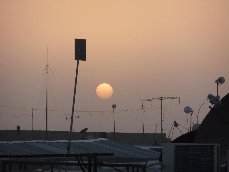 Sunset far away